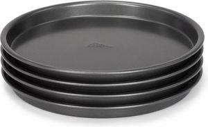 Patisse backform-Set Tiefschwanz 20 cm Stahl schwarz 4 Stück