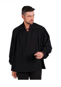 T3163-0100-XL schwarz Herren Piraten-Mittelalter Shirt Gr.XL=56