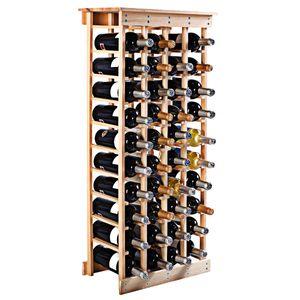 COSTWAY Weinregal aus Holz Flaschenregal Weinstaender Holzregal Weinschrank Flaschenstaender fuer 44 Flaschen