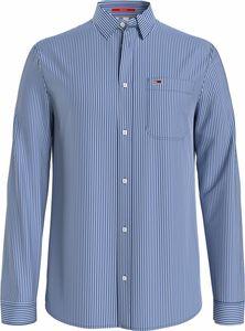 Tommy Jeans TJM LINEN BLEND SHIRT Hemd Herren BLUE M