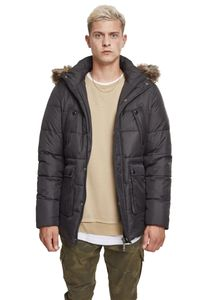 Urban Classics Jacke Faux Fur Hooded Jacket Black-M