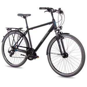 Herren Trekking Fahrrad 28 Zoll TR.2820 Shimano 21 Schwarz 60cm für Körpergröße 185-195cm