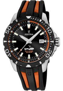 Festina Uhr für Herren F20462/3 Diver Kautschuk schwarz/orange