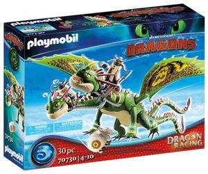 PLAYMOBIL Dragons 70730 Dragon Racing: Raffnuss und Taffnuss mit Kotz und Würg