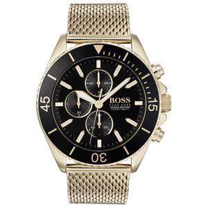 Hugo Boss Chronograph Uhr Herren Ocean Edition 1513703 In Gold/Schwarz Edelstahl/Edelstahl