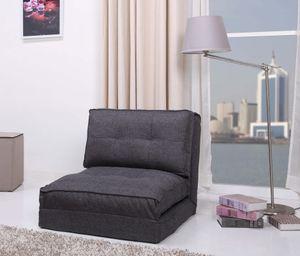Schlafsessel Jugendsessel Gästebett Kindersessel (Stoffbezug grau groß)