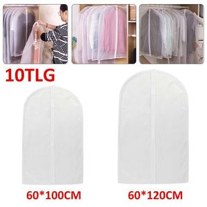 Melario 10 Stücke Kleiderschutzhülle Kleidersack Schutzhülle transparente Kleiderhülle 5 Stücke 60x100cm + 5 Stücke 60x120cm