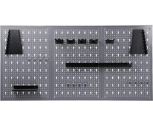 Ondis24 Werkzeugwand 120 x 60 cm mit 22-teiligem Hakensortiment Lochwand Werkstatt aus Metall Lochblech