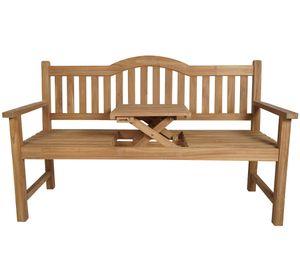 KMH® TEAK 3-sitzer Bank mit Tisch