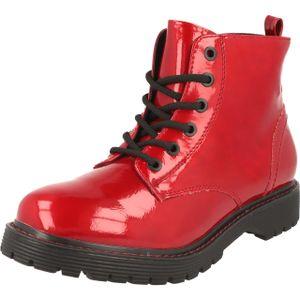 Jane Klain Woman Damen Schuhe Lack Boots Stiefel Schnürer 252-366 Red Lack