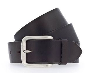 MUSTANG Leather Belt With Buckle W125 Dark Brown - kürzbar