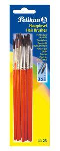 Pelikan Haarpinsel-Set Sorte 23 12-teilig sortiert je Größe 3 x 2, 4, 6 und 8
