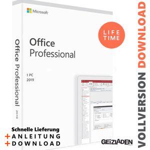 Microsoft Office 2019 Professional Plus  - Download Key 32/64 Bit