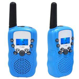 Walkie Talkie Kinder Funkgerät, Walki Talki Walky Talky mit Taschenlampe 3KM Reichweite Woki Toki Spielzeug Geschenk, 2 Stück Blau