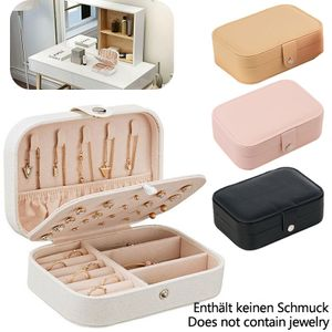 Schmuckkasten Schmuckkoffer Schmuckkästchen Kosmetikkoffer Aufbewahrungsbox, Rosa
