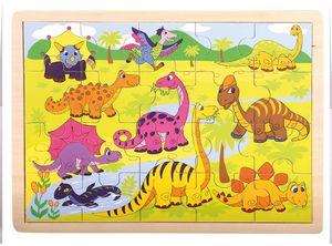 Bino Brontos Einlegepuzzle Dinosaurier 88079 - Holzspielzeug Puzzle 20 Teile