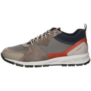 Geox Herren Sneaker Sneaker Low Leder-/Textilkombination taupe 43