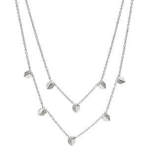 Fossil JF02433 Damen Collier Edelstahl Silber weiß 45,5 cm