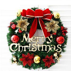 30cm Weihnachtskranz, Türkranz Weihnachten Weihnachtsdeko Kranz Weihnachtsgirlande mit Kugeln Handarbeit Weihnachten Garland Deko-Kranz (Mehrfarbig-Bell)