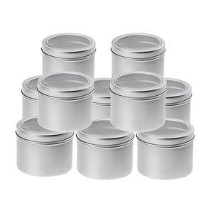 10x 100 Ml Aluminium Dose Leerdose Cremedose Kosmetik Blechdose Schraubdose mit Schraubdeckel