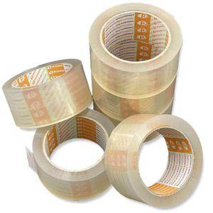 Printation Paket Klebeband 6er Pack 50mm x 66m transparent 56my Packband leise strong, extra stark klebend und reißfest