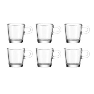 Leonardo Loop Espressoglas, 75 ml, 6 Stk.