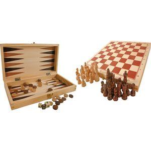 Small Foot 3453 Spielesammlung X aus Holz, 4-in-1, mehrfarbig (1 Stück)