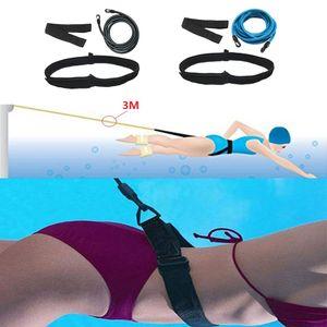 2 Set 3.0M Schwimm Bungee Trainingsgurtband Haltegurt Pool Trainingswerkzeug