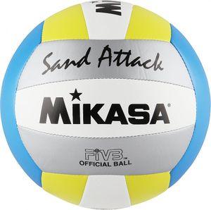 Sport 2000 SAND ATTACK Beachvolleyball blau-gelb-silber blau-gelb-silber 5