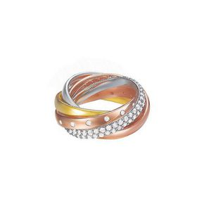 Esprit Damen Ring Messing Silber Rosé Gold Tricolor Magnifica Trio ESRG02838D190