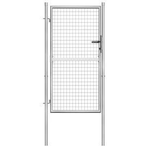 vidaXL Gartentor Verzinkter Stahl 105x200 cm Silbern