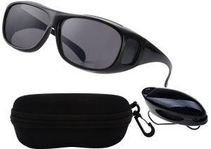 """Lynx™ ► Unisex """"Clear Vision Pro"""" Überzieh Sonnenbrille - HD+ Kontrast Fahrbrille mit UV-Schutz gegen blendendes Licht und Antireflexbeschichtung ⭐️⭐️⭐️⭐️⭐️"""