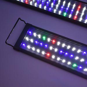 90CM-115CM LED Aquarium Beleuchtung Lampe Aufsatzleuchte Licht Lampe Pflanzen Vollspektrum Aquarien Plant Fisch RGB Bunt