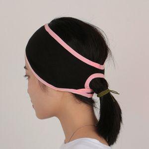 Damen männer pferdes chwanz loch stirnband ohren wärmer haarband sport sweatba Farbe Rosa