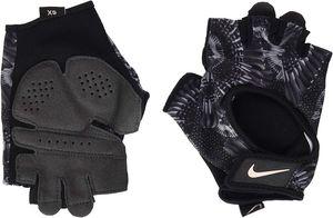Nike Damen Fitness Handschuh WOMENS GYM ULTIMATE GLOVES schwarz grau, Größe:S