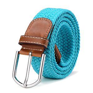 Stoffgürtel Stretchgürtel geflochten und elastisch Gürtel Länge 100 cm bis 130 cm türkis