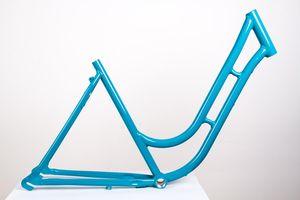 28 Zoll Alu Damen Fahrrad Rahmen City Retro Classic Vintage Bike frame Rh 52cm türkis blau