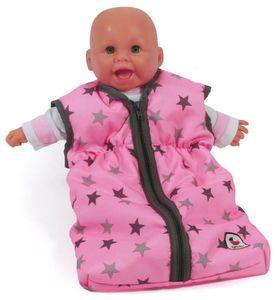 Bayer Chic 2000 Puppen-Schlafsack Sternchen grau