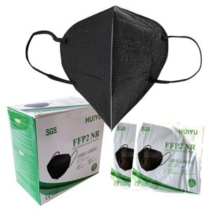 20 Stück FFP2 Maske EU CE 0598 Schwarz Atemschutzmaske Partikelfiltermaske  Staubschutzmaske