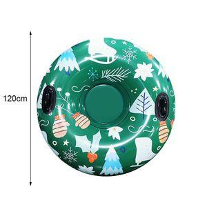 120cm Durchmesser Tragbare Aufblasbaren Schlauch Schlitten Rodeln Rohr Ski Ring