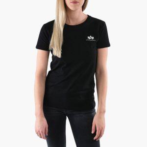 ALPHA INDUSTRIES Basic Damen T-Shirt Schwarz, Größe:M