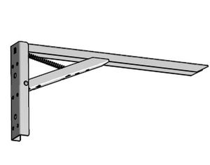 1 Klappkonsole, Tischhalter Stahl massiv, Klappträger weiß max.100 Kg