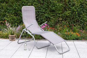 """Merxx Gartenliege """"Wellnessliege XXL"""" - Stahlgestell mit Textil diamantbraun - 26900-330"""