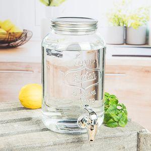 Getränkespender Wasserspender Ø15xH25cm 3 Liter inkl. Zapfhahn Klar