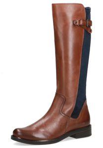 Caprice Damen Elegante Stiefel 9-25504-27 Braun 387 Cognac Ocean Leder und Textil CAP LI Absatz, Groesse:37 EU