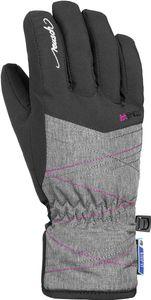 Reusch Aimée R-TEX XT Handschuhe Jugend black/grey melange/pink glo Handschuhgröße 5,5