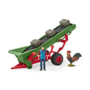 Schleich Farm World 42377 Heuförderband mit Bauer