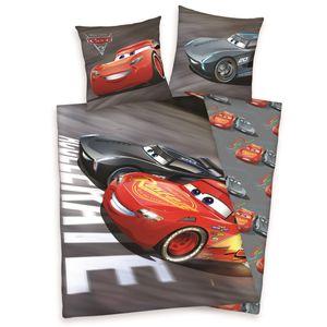 Disney´s Cars 3 Bettwäsche 80x80 + 135x200cm , 100% Baumwolle mit Reißverschluss
