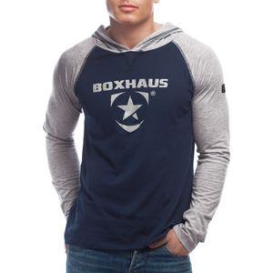 Abverkauf  Incept Kapuzenshirt LS blue-grey htr - Größe: M