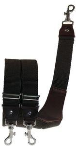 Extra starker Hosenträger mit Karabinerhaken, Größen:120 cm, Farben:dunkelbraun